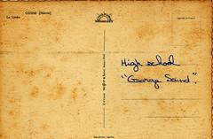 Texture: Postcard - George Sand