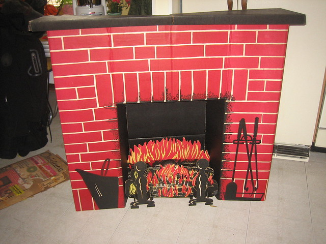 corrugated fireplace brick paper my cardboard
