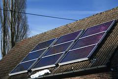 Solar Collectors in Winter  Sun