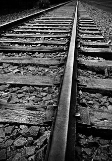 Old Railroad Tracks_0619 b&w
