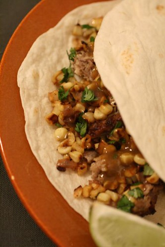 Mexican Pulled Pork (Carnitas) Tacos with Corn-and-Red-Onion Salsa ...
