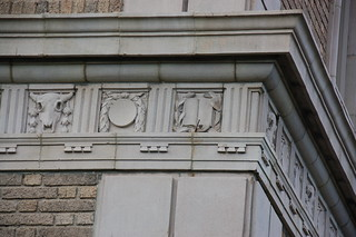 Somerville Library bucrania architectural detail