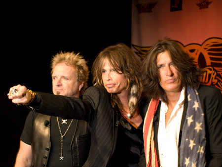 Aerosmith at their Guitar Hero Press Release