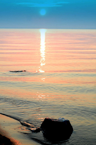 water sunrise shore pensacolabay