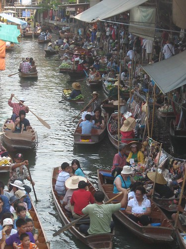 Damoen Saduak floating market en famille