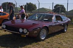 race car, automobile, vehicle, lamborghini espada, performance car, antique car, classic car, land vehicle, coupã©, sports car,