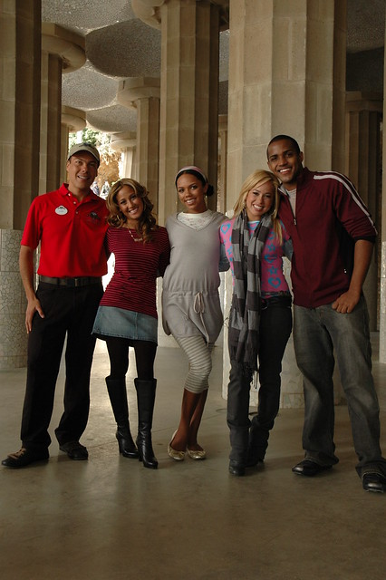 Cheetah Girls w/ Disney Channel Host and ABD Guide at Park Guell ...