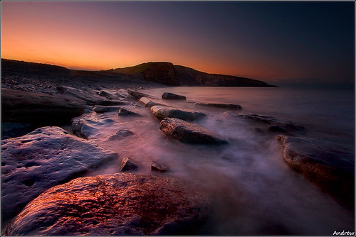 longexposure sea cold water sunrise geotagged rocks pastel earlymorning shades explore frontpage verycold southerndown circularpolariser wetfeet giap canonefs1022mmf3545 explored dunravenbay glamorganheritagecoast wfcmeet canoneos40d mistywater andrewwilliamdavies witchspoint geo:lat=51446338 geo:lon=3606187