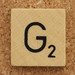 Wood Scrabble Tile G