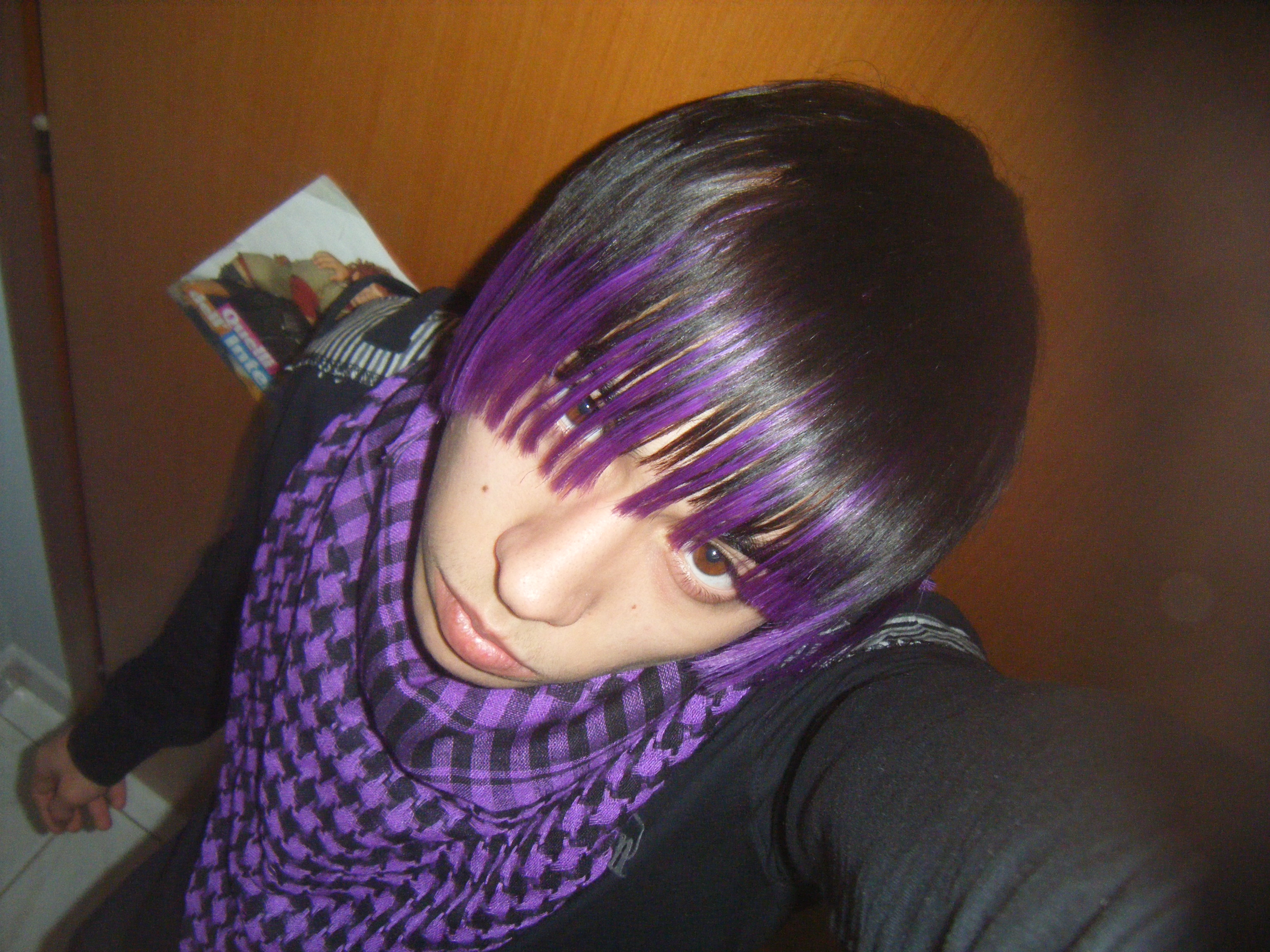 Emo Boy with Purple Hair