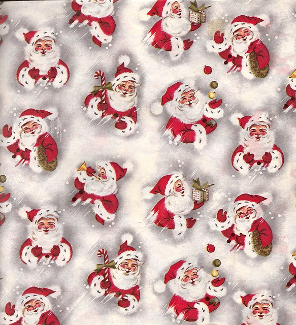 vintage christm... Vintage Christmas Wrapping Paper
