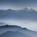 Nepal - Himalayas - Everest Panorama - blue by Darrell Godliman