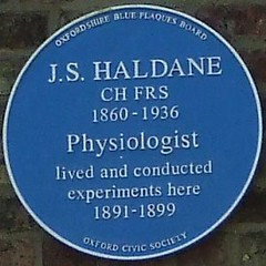 Photo of John Scott Haldane blue plaque