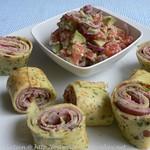 Petersilienpfannkuchen mit Salsa