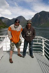 Hubbers and Bundy on fjord in Norway
