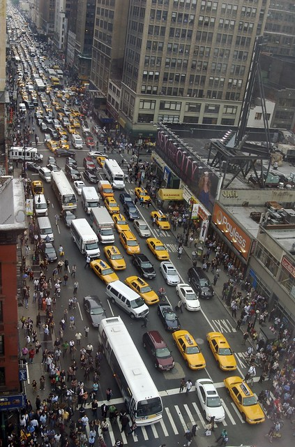 8th Avenue, gridlocked from 40th to 34th