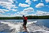 Wakesurfing by Derek Purdy