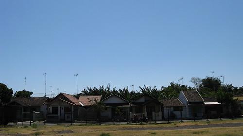 blue sky house landscape kampong pasuruan