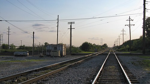 Hawthorne Junction at the Chicago city limits around sunset. Chicago / Cicero Illinois. June 2008. by Eddie from Chicago