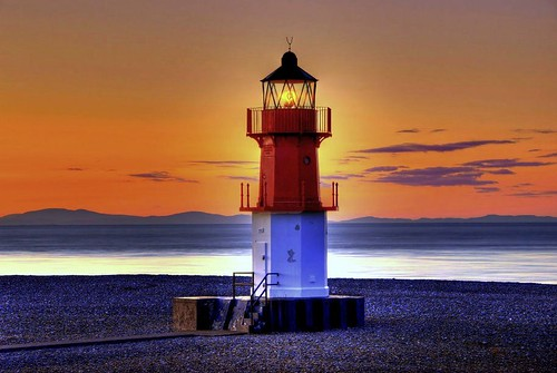 Sunset at the Point of Ayre. - ISLE OF MAN