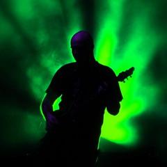rock concert, music, light, stage, guitarist, green, darkness, concert, performance,