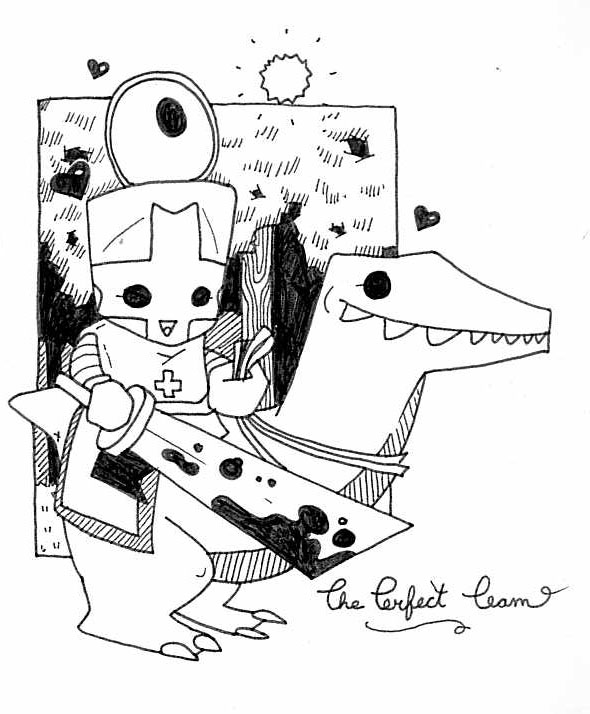 Free castle crashers coloring pages