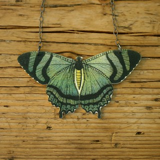 Mountain Lake Butterfly Necklace