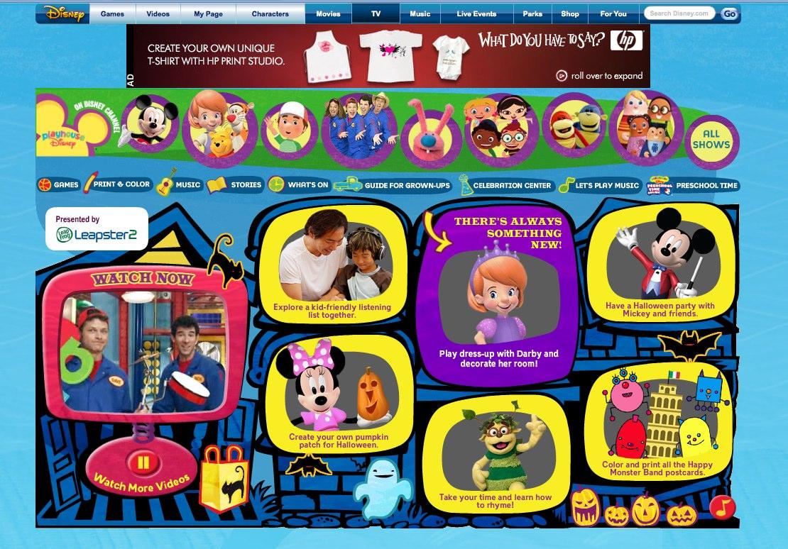 Old Disney Playhouse Games