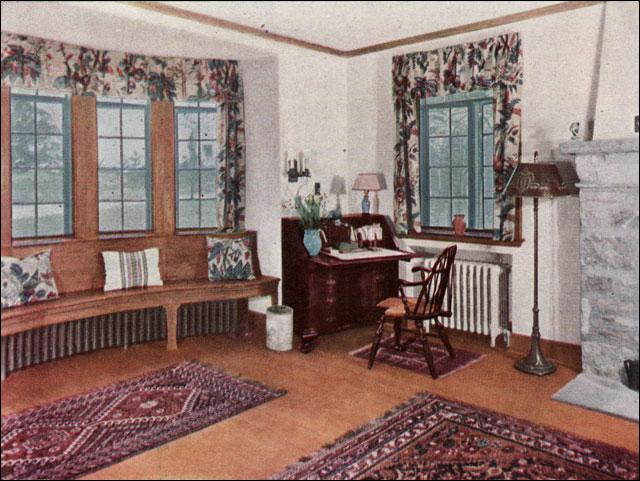 1930 living room ad for oak floors flickr photo sharing. Black Bedroom Furniture Sets. Home Design Ideas