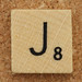 Wood Scrabble Tile J