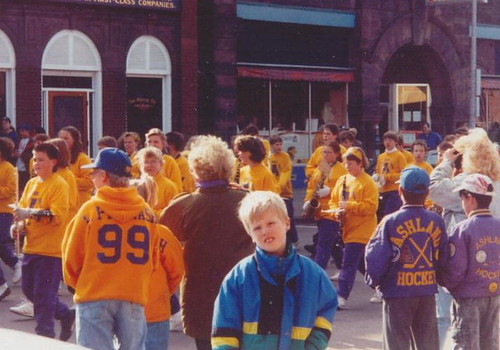 Nick at the homecoming parade, September 1992.