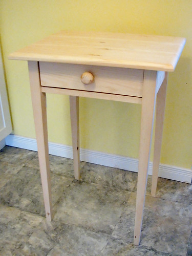 Shaker-style table (unpainted pine)