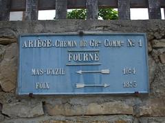 Panneau à Aigues-Juntes