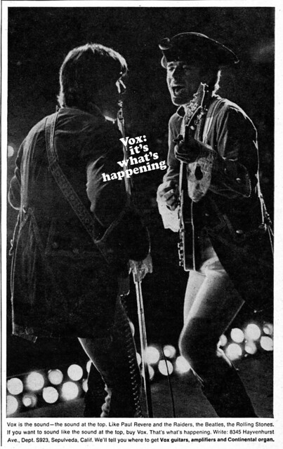 Paul Revere & The Raiders Vox Ad 1966