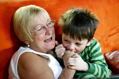 nick eating his grandmother's hand    MG 1470
