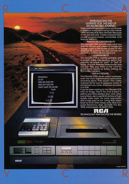Vintage Ad #542: RCA VCR in SI   Flickr - Photo Sharing!