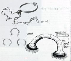 Attitude sketchbook detail - shackles and manillas