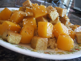 Maple Glazed Tofu and Roasted Butternut Squash