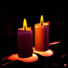 flameless candle, candle, yellow, light, fire, darkness, flame,