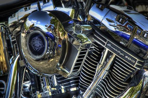 engine motorcycle shiny metallic hdr motorbike