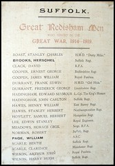 Great Redisham men who served in the Great War