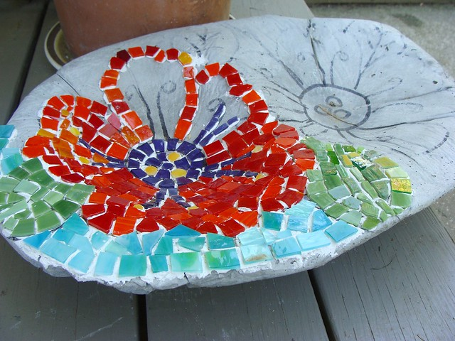 flower bowl mosaic side