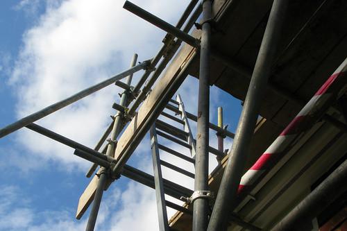 scaffolding in the sky