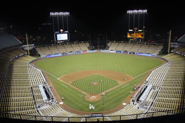 Empty Yankee Stadium At Night Empty Dodger Stadium a...