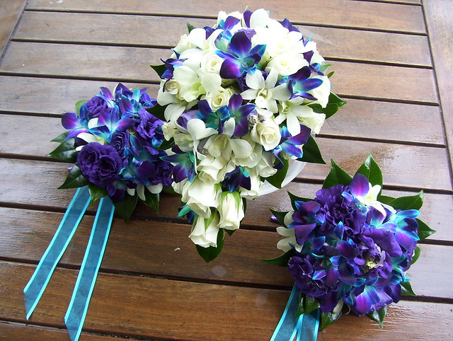 Wedding Bouquets Blue And Purple: Pin by chelsea stephenson on my ...