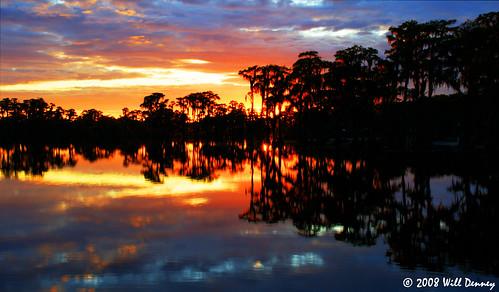 park sunset sky lake america georgia fire state wildlife united management area recreation states lakeland banks