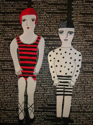 """The Odd Couple"" Mounted and finished"