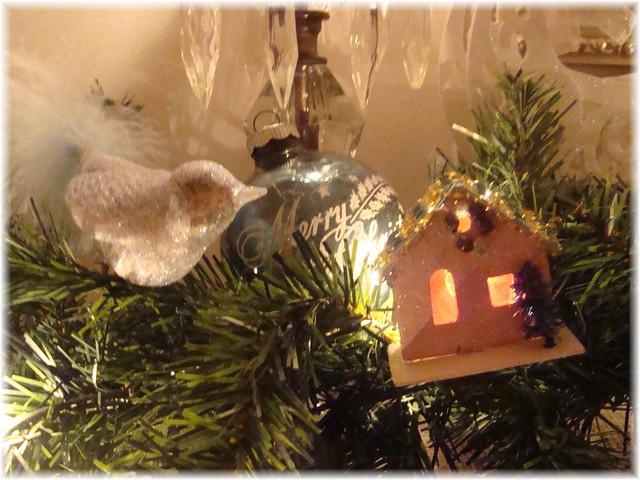 Vintage Christmas Mantel Decorations : Vintage christmas mantel decor flickr photo sharing