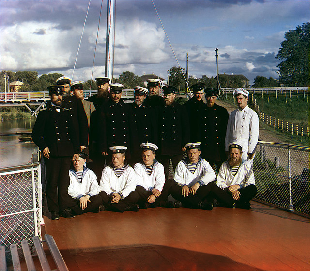 Team of Sheksna steamer, 1909