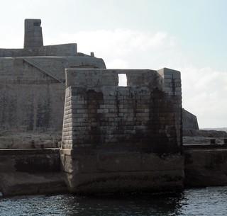 Image of Fort Tigne. city urban building history stone buildings coast fort culture malta defence valletta vickiburton